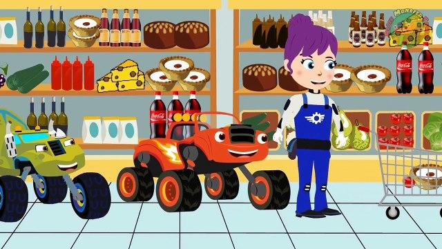 BLAZE CAR THE MONSTER MACHINES Blaze Vs bLAZE Hide and Seek! Blaze Monster Truck Cartoon