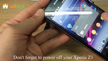 How to Open Sony Xperia Z1 Back Cover and Replace it
