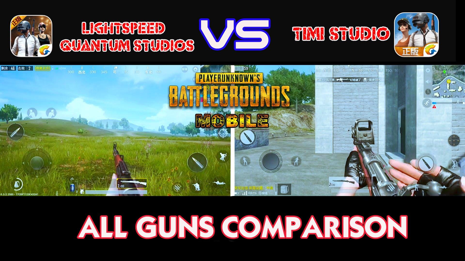 [PUBG Lightspeed vs PUBG Timi] All Guns Comparison Test - Android/IOS