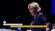 """Congrès du Front national : """"Le modèle de Monsieur Macron ne conduit pas à une libération mais à une aliénation. La société de Macron, c'est une société où le citoyen est livré à de multiples insécurités : insécurité sociale, économique,  juridique"""""""