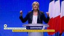 """""""L'argent des Français doit d'abord revenir aux Français. Nous n'avons plus les moyens d'accueillir, de loger, de soigner, de nourrir la Terre entière"""", déclare Marine Le Pen, lors du congrès du Front national."""
