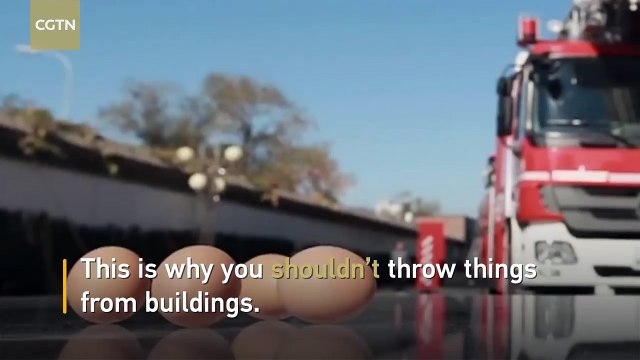 This is why you shouldn't throw things from buildings