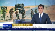 Syrian army takes control of main road to Deir al-Zour