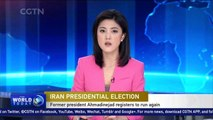 Ex-Iranian President Ahmadinejad registers for presidential election