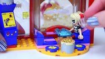 LEGO DC Superhero Girls Harley Quinn to the Rescue Cafe Build Review Silly Play - Kids Toys
