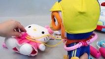 헬로키티 병원놀이 뽀로로 의사 주사 인형 놀이 구급차 장난감 Hello Kitty Doctor Kit Play set Doll Toys