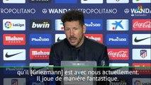 """Liga: 28e j. - Simeone: """"Griezmann est un joueur de l'Atletico"""""""