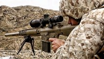 Marine Corps Snipers Shooting The M110 SASS Sniper Rifle