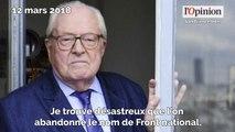 Rassemblement national: Jean-Marie Le Pen tance Marine Le Pen, «c'est désastreux»