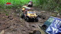 12 Scale RC offroad Trucks adventures Tampines Quarry Wraith scx10 Jeep Brute FJ Cruiser Sawback