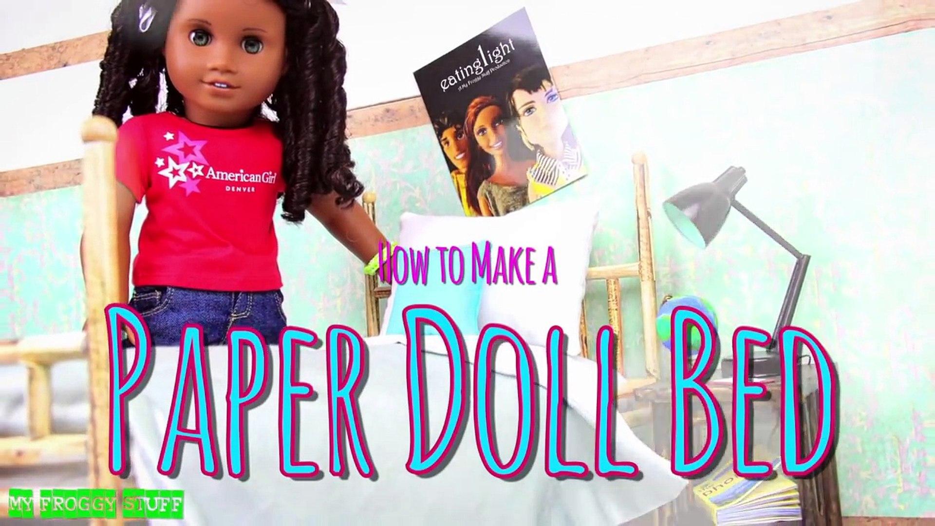 Make A DOLL BED | Diy barbie furniture, Doll bed diy, Diy barbie house | 1080x1920