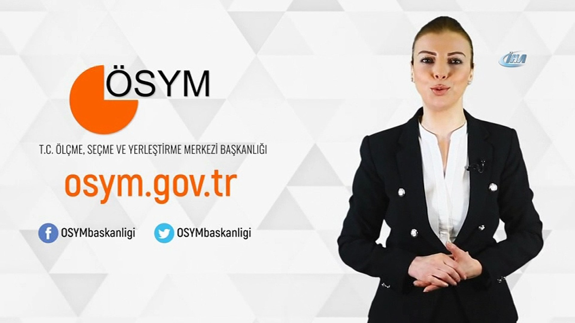 ÖSYM'den 2018-YKS ile ilgili aday bilgilendirme videoları