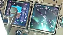 Pilots View - Boeing 747-400 Crosswind Landing Amsterdam Schiphol