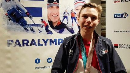 Arthur Bauchet, 2 médailles d'argent en ski paralympique
