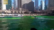 Chicago River turns green for St Patrick's Day