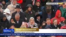 Donald Trump gives inaugural speech after being sworn in as 45th US president