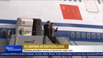 Chinese President Xi Jinping arrives in Zurich for a four-day state visit to Switzerland