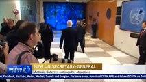 New UN Secretary-General Antonio Guterres outlines his objectives