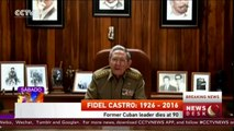 Fidel Castro dies at the age of 90, Cuban President Raul Castro announces