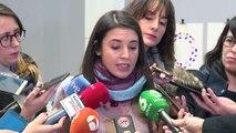 Pablo Iglesias da la espalda a los padres de Diana Quer y Mari Luz Cortés en el Congreso