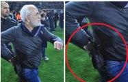 PAOK : Le président envahi la pelouse armé d'un pistolet pour protester contre l'arbitrage
