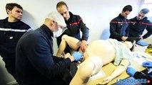 Simulation accouchement pompiers du Rhône