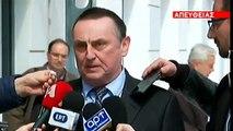 πρόεδρος της Super League Γιώργος Στράτος για την διακοπή του Πρωταθλήματος μετά την συνάντηση του με τον Γιώργο Βασιλειάδη