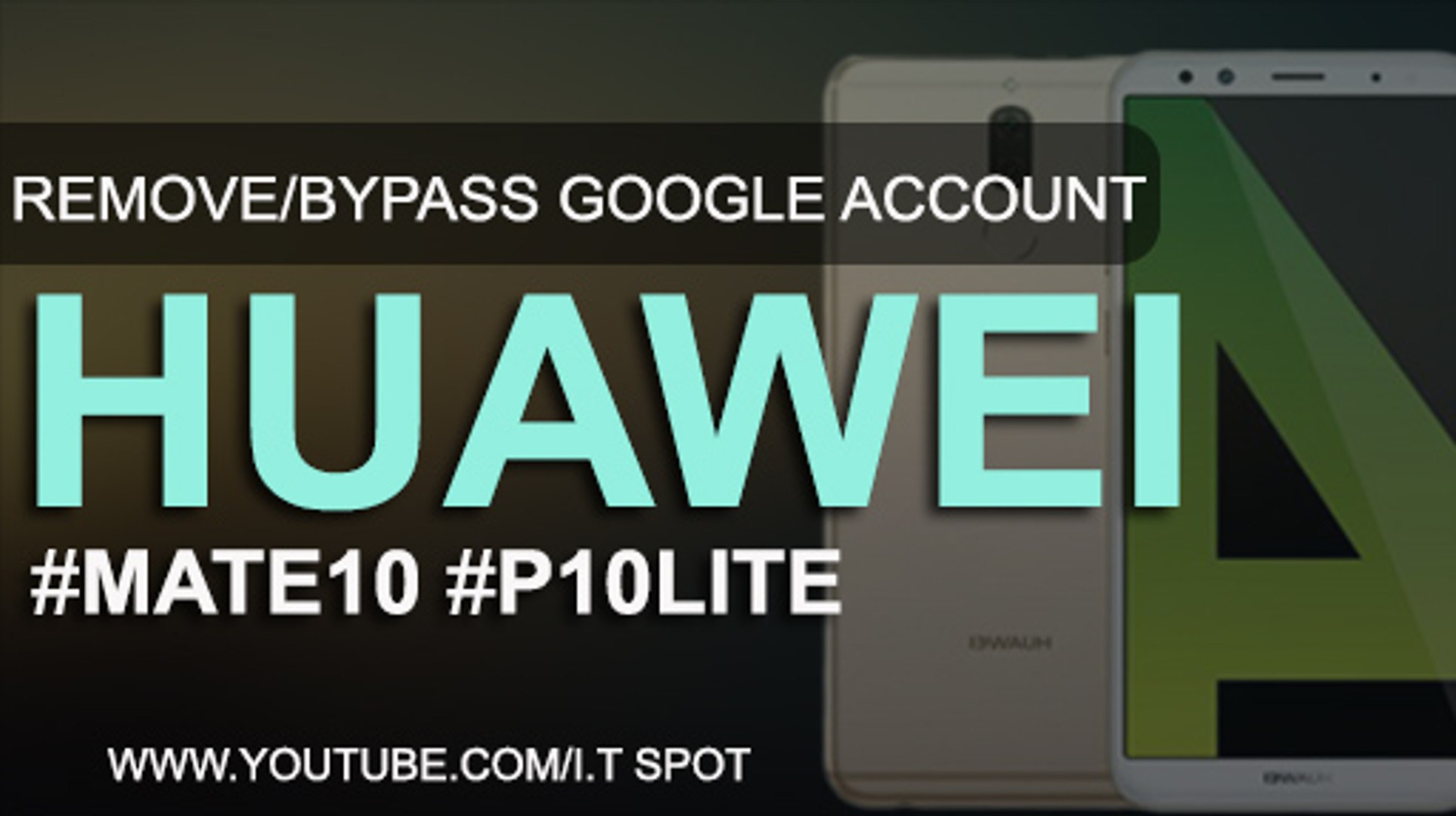 Huawei Mate 10/P10 Lite Google Account Bypass frp Remove(2018) Andriod  7 0/7 1
