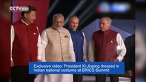 Exclusive video: President Xi Jinping dressed in Indian national costume at BRICS Summit