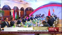 BRICS Summit: Chinese President Xi holds talks with Indian PM
