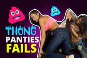 Thong Panties Fails - Girls Pulling Thong Underwear Funny Compilation || Fail Pirates