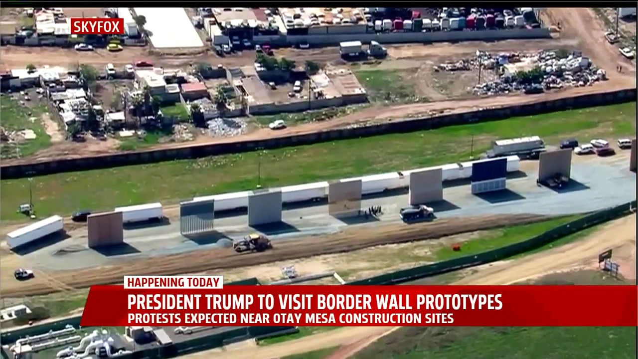 President Trump to Visit Border Wall Prototypes