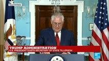 """Donald Trump ousts Rex Tillerson: """"it''s a little bit of a reality TV firing"""""""