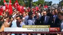 Turkey coup aftermath: Turkish president back in Ankara to chair security council