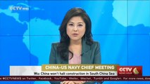 Commander of the Chinese Navy: China won't halt construction in South China Sea