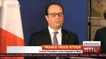 Nice attack: French President visits hospital in Nice