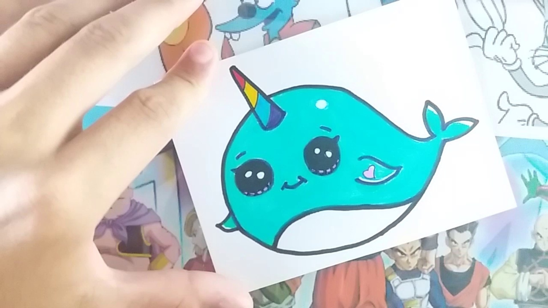 Como Desenhar Narval Kawaii