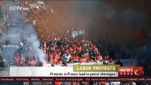 Protests in France lead to petrol shortages