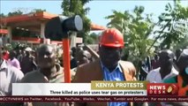 Kenya protests: 3 killed as police uses tear gas on protesters