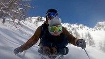 Le fils du freerider suisse Nicolas Falquet découvre les joies du ski