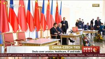 Chinese President Xi Jinping delivers key note speech during Czech Republic visit