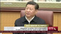 "2022 Winter Olympics: President Xi expects Beijing to host ""green & open"" Games"