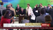 Mass rallies held in Brazil as President Rousseff faces impeachment