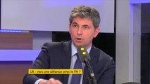 """""""Il n'y aura pas d'alliance avec le Front national. Nous ne voulons surtout pas nous approcher des thèses portées par le FN"""", assure Gilles Platret, maire LR de Chalon-sur-Saône."""