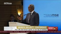 Munich Security Conference: Former UN chief speaks on last day of meeting