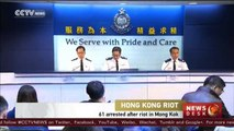 Hong Kong riots: Police injured, 61 protesters arrested