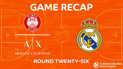 EuroLeague 2017-18 Highlights Regular Season Round 26 video: AX Milan 77-88 Madrid