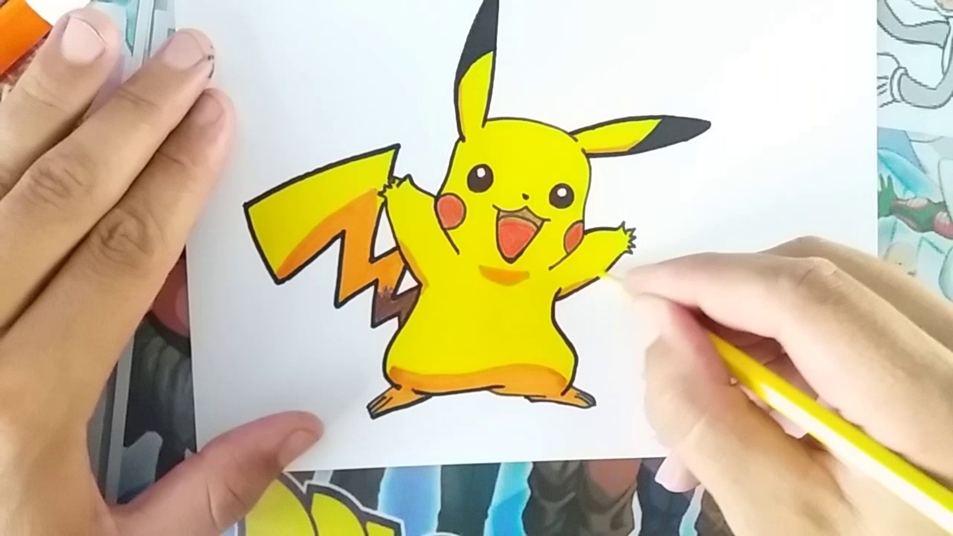 comment dessiner PIKACHU - pokémon | how to draw pikachu - pokémon | como dibujar pikachu - pokémon