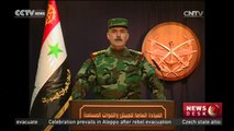 Syrian army announces complete control of Aleppo
