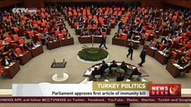 Turkish parliament approves first article of bill on stripping lawmakers' immunity